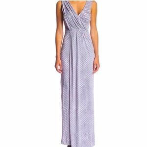 French Connection White/Purple Maxi Knit Dress